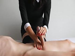 Amateur Handjob By College Girl Ruined Orgasm First Experience