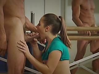 Brunette Spinner Alina Henessy Gets Fucked By Tommy Gunn Before Sucking Him Off