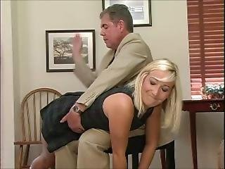 Naughty Girl Is Spanked Bare Bottom At School