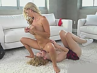 blonde, tripotage, lesbienne, milf, oral, chatte, Ados, jeune