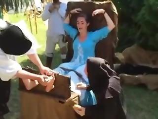 Renfare Girl Tickle Tortured (bare Feet Tickling)