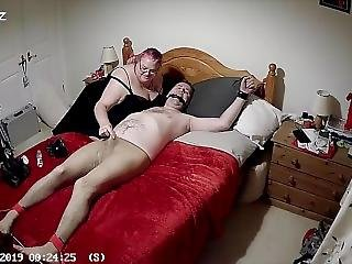 Tied To Bed In Tights With Cbt And Post Orgasm Torture - Part 1