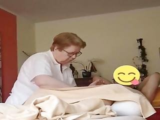 Massage Granny Takes Care Of Cock Cropped Cumshot At 1:54