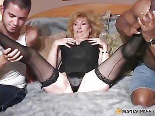 In A Mature Man Crumples Aunt Legs