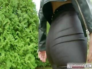 Hot Girl In Leather Gets Ass Fucked And Loves It