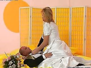Groom Fucks His Delicious Bride