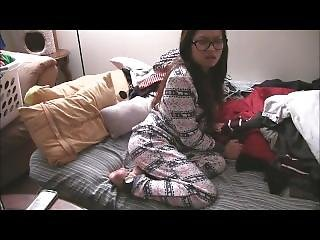 Sexy Asian Girl Farts In Her Pajamas
