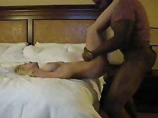 Hot Blonde Wife Gets Big Black Cock