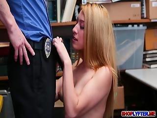 Skinny Teen Thief Alexa Steals And Got Fucked