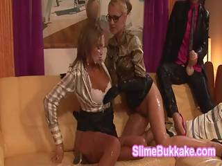 Horny European Milfs Soaked In Sperm By Big Cock