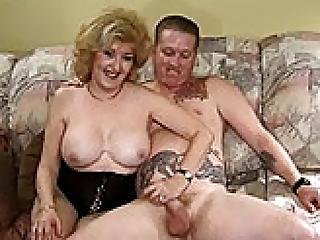 Gina Busty Granny Riding Boy S Hard Cock