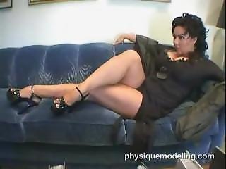 Annie Mae Showing Her Legs