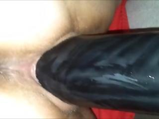Ramming Herhorny Wet Pussy With A Huge Toy