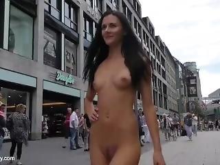 Hot Babe Kira Nude In Public