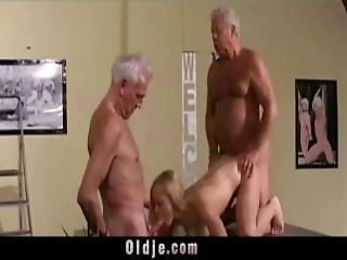 Vintage Old Young Teenie Girl Fucked By 2 White Hair Grandpas