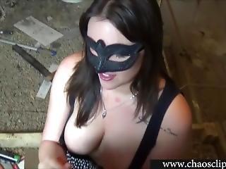Crazy Girlfriend Handjob In Basement