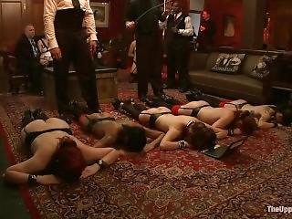 5 Sex Slavegirls Service Bdsm Party