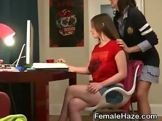 College Pledges Shave Each Other In Sorority House Shower
