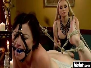 Horny Brunette Gets Handled By Her Mistress