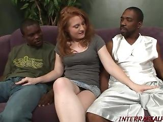 Young Lucy Gets A Double Dose Of Black Dick