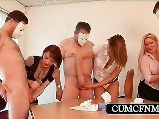 Cfnm Gangbang With Sluts Rubbing Cocks