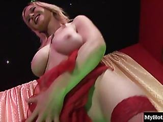 Petrushka Slowly Wags Her Butt Against The Stripper Pole Then Gets On The