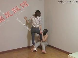 Asian Queen Ballbusting Poor Slave