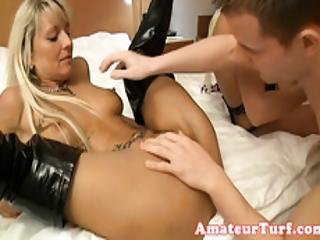 Amateur German Babes Cum Covered After Trio