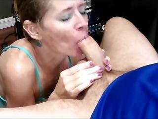 Sloppy Spitty Gagging Monster Dick Blowjob With Ball Sucking And Facial