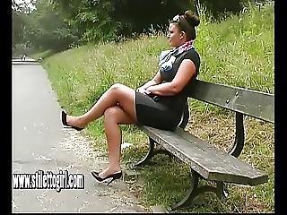 Stiletto Babe Karen With Shoe Fetish Teasing In High Heels