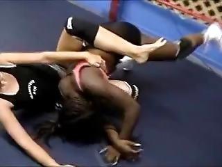 White Wrestler Beats Black Wrestler