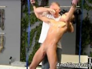 Extreme gay bondage ass fuck Mark is such a