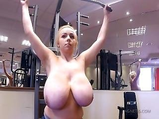 Babe, Big Tit, Blonde, Workout, Workplace