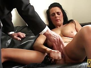 Clitpierced Submissive Toys Her Pussy