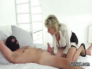 Unfaithful British Milf Lady Sonia Flashes Her Gigantic Tits