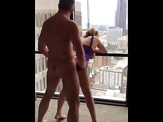 Bull Fucks Wife On The Hotel Balcony