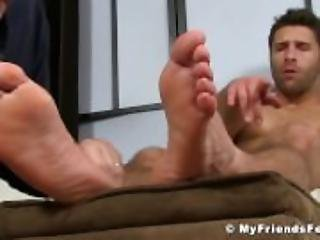 Feet and toes licking with hot dude
