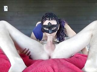 No Hands 69 Blowjob, Lot Of Spit And Huge Load In Mouth For This Young Mom