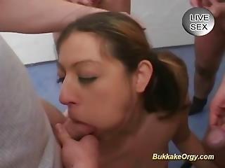 German Cum Drinking Teen Banged