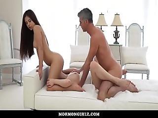 Mormongirlz-husband And Wife Fuck A Petite Teen