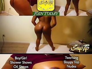 Ebony Naked Twerking