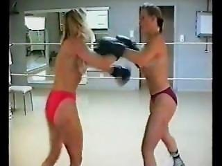 Lgis - Kristina Vs Cassia Topless Boxing