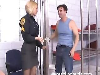 Super Horny Police Officer Gets Fucked Hard