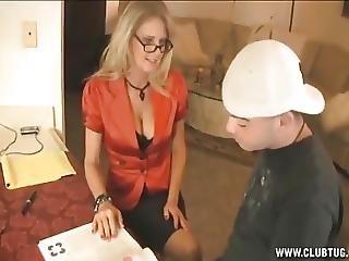 Horny Teacher Handjob