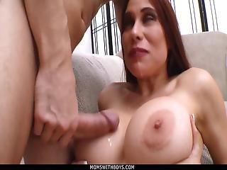 Momswithboys Busty Wife Sheila Marie Hardcore Couch Sex