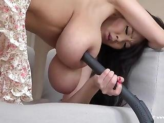 Hitomi With Vacuum Cleaner