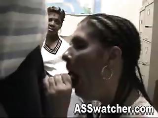 White Girl Xena Get Down Literally... On A Black Guy An Gets A Creamy Facial