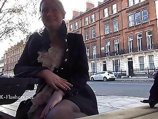 Sexy Blonde Flasher Ambers Outdoor Exhibitionism And Naughty