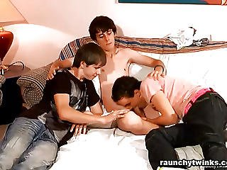 Three Naughty Twinks Gay Sex