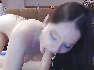Flawless Sexy Babe Hot Dildo Pussy Fucking On Cam
